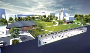 Westmount Recreation Centre, Quebec, graphic rendering. Image: CIMA+