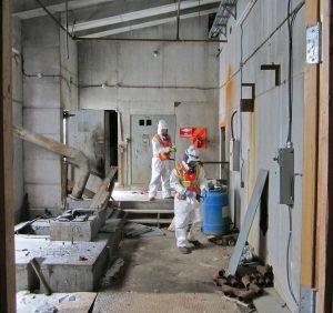 Hazardous waste survey at Giant Mine Roaster Complex, Yellowknife, NWT. Image: AECOM.