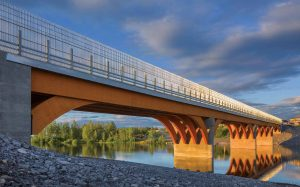 Mistissini Wooden Bridge, northern Quebec. Image: Stantec.