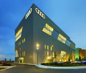 Audi Midtown Toronto. Photo courtesy Ontario Concrete Awards.
