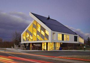 Varennes Net-Zero Library, Quebec.  Image: Stantec.