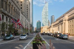 Front Street, Toronto, revitalized.  Image: AECOM.