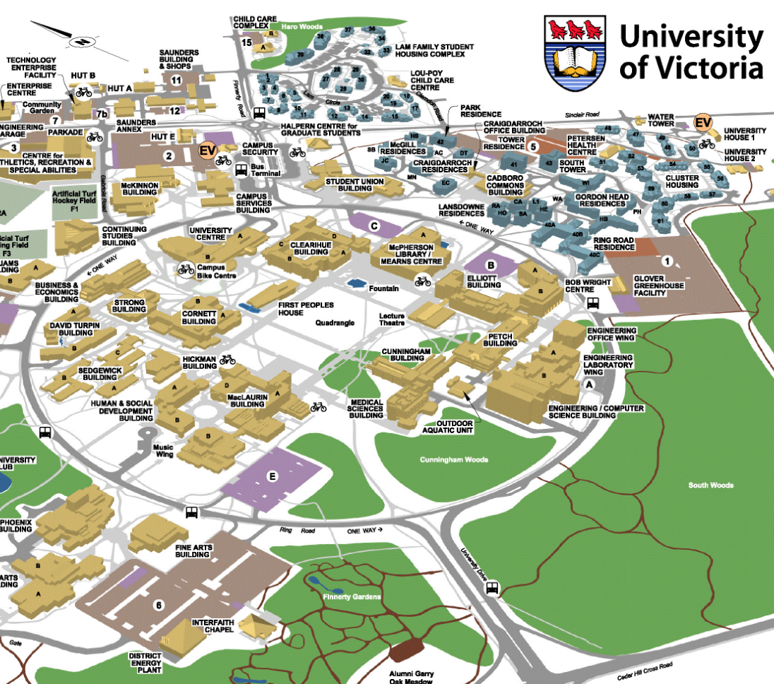university of victoria campus map Uvic Posts Rfp For Engineering School Expansion Canadian university of victoria campus map