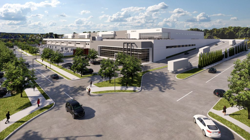 Multi-storey industrial distribution facility.