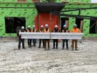 Steel-topping ceremony