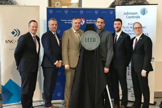 MUHC LEED Gold EB certification