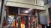 Composite floor fire test