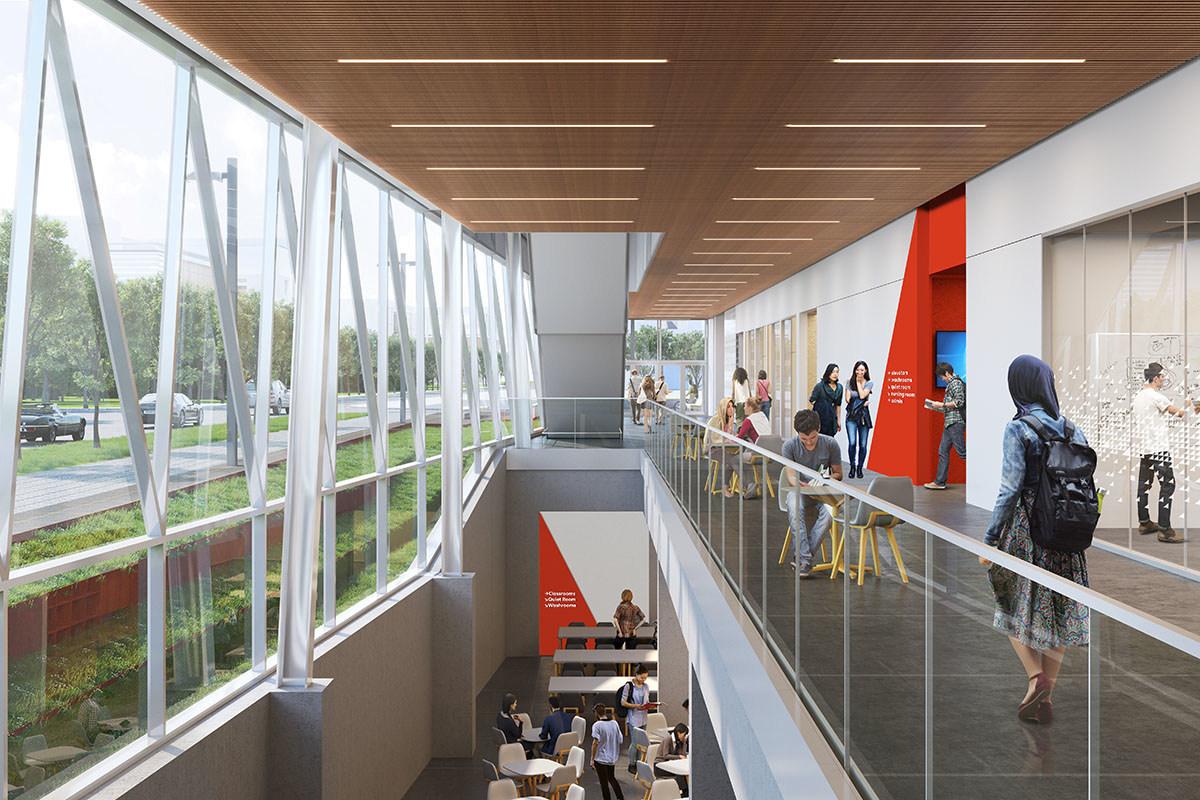 York University school of continuing studies ground floor interior