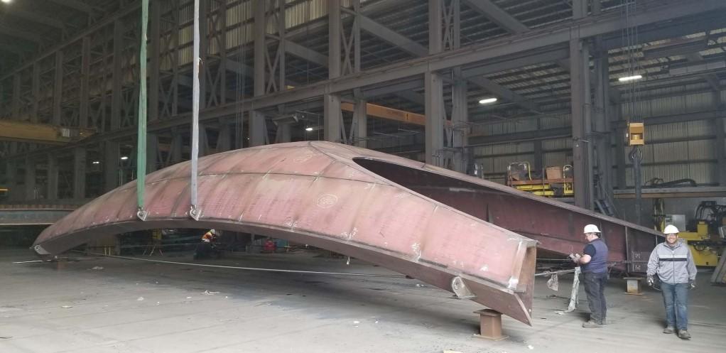 Port Lands bridge fabrication