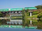 GO Train on Rouge River Bridge