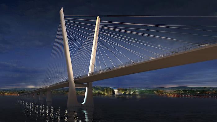 Île-d'Orléans cable-stayed bridge