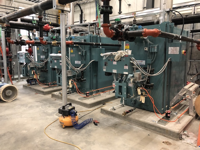 Dawson City Water Treatment Plant heat exchanger