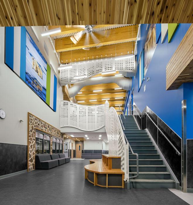 Arviligruaq Ilinniarvik School interior