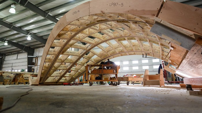 GNW Pavilion prefabrication