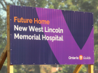 Sign for West Lincoln Memorial Hospital