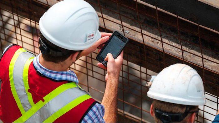 Procore app at construction site