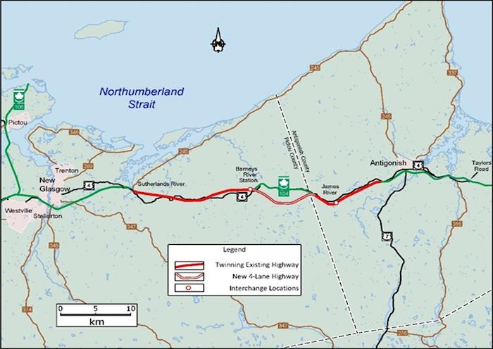 Highway 104 twinning