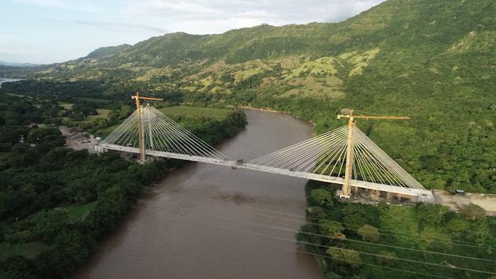 Magdalena River bridge in Honda, Colombia