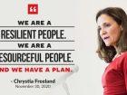 Chrystia Freeland fall economic statement
