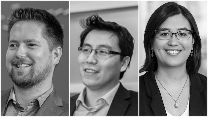 Peter Kastelic, P.Eng., Edmund Ho, P.Eng., and Adrianne Mitani, P.Eng.