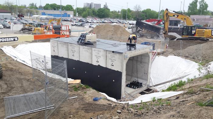 Guildwood Station precast tunnel segment
