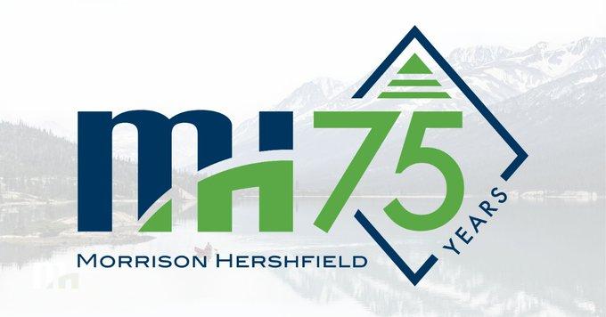 Morrison Hershfield 75th anniversary logo