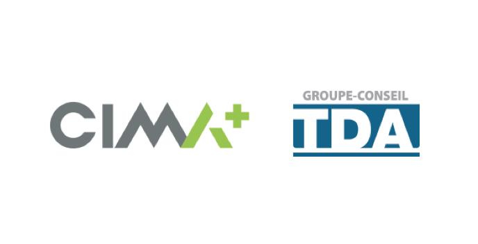 CIMA+ and Groupe-conseil TDA logos