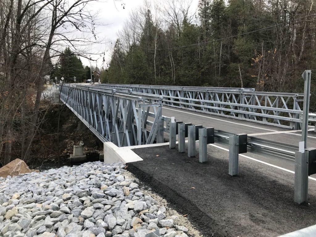 Acrow modular steel bridge connects communities in Ontario