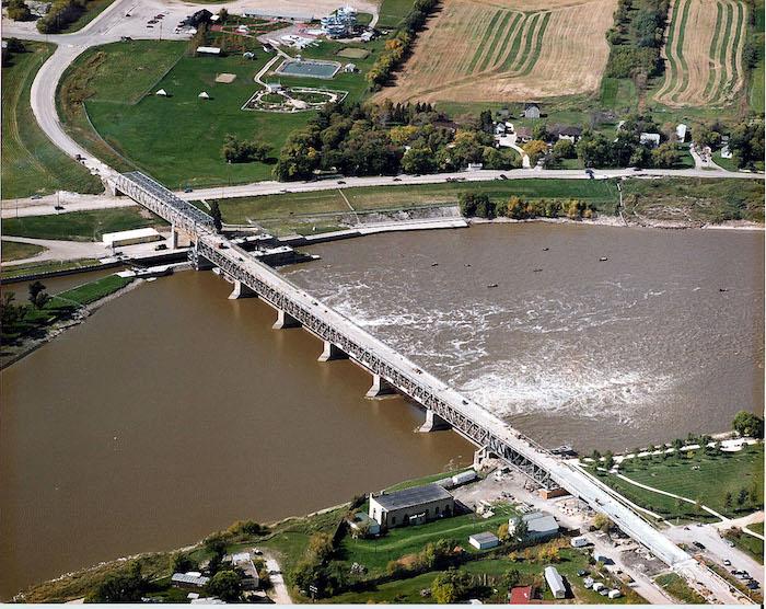St. Andrews Lock and Dam - overhead
